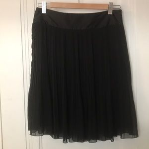 H&M Black Sheer Pleated Special Occasion Skirt